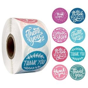 $8 bundle item💙 500 pcs thank you stickers